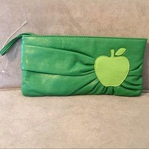 Green apple bag clutch kitschy Fruit wristlet
